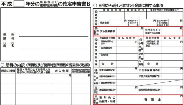 ふるさと納税と医療費控除を併用する確定申告の書き方